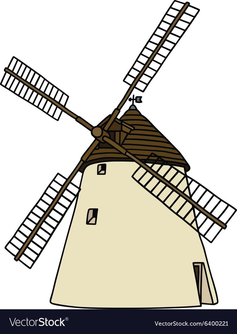 Old stone windmill