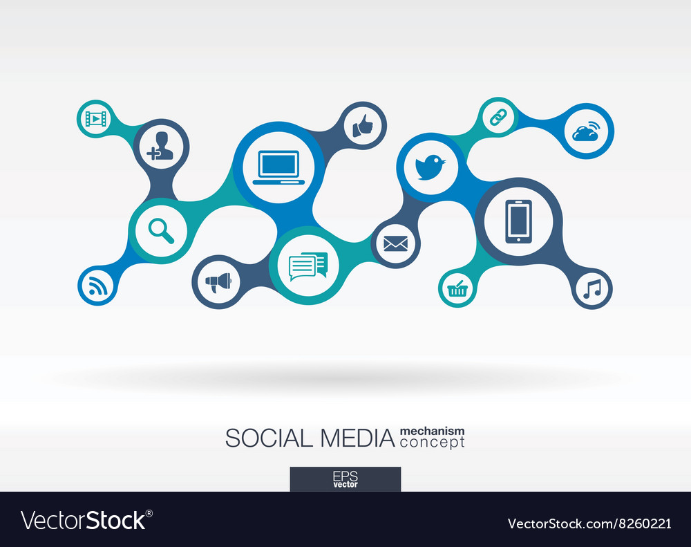 Social media Growth abstract background with