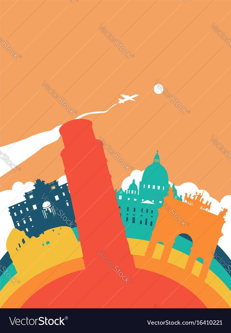 Travel italy world landmark landscape