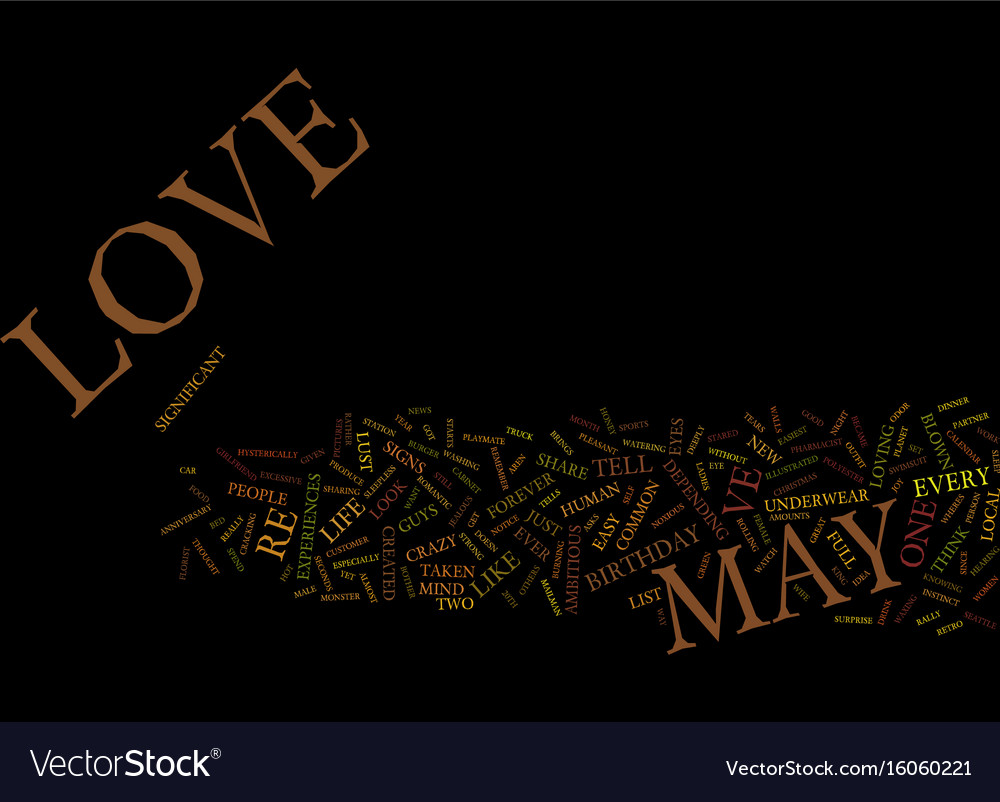 You may be in love if text background word cloud vector image