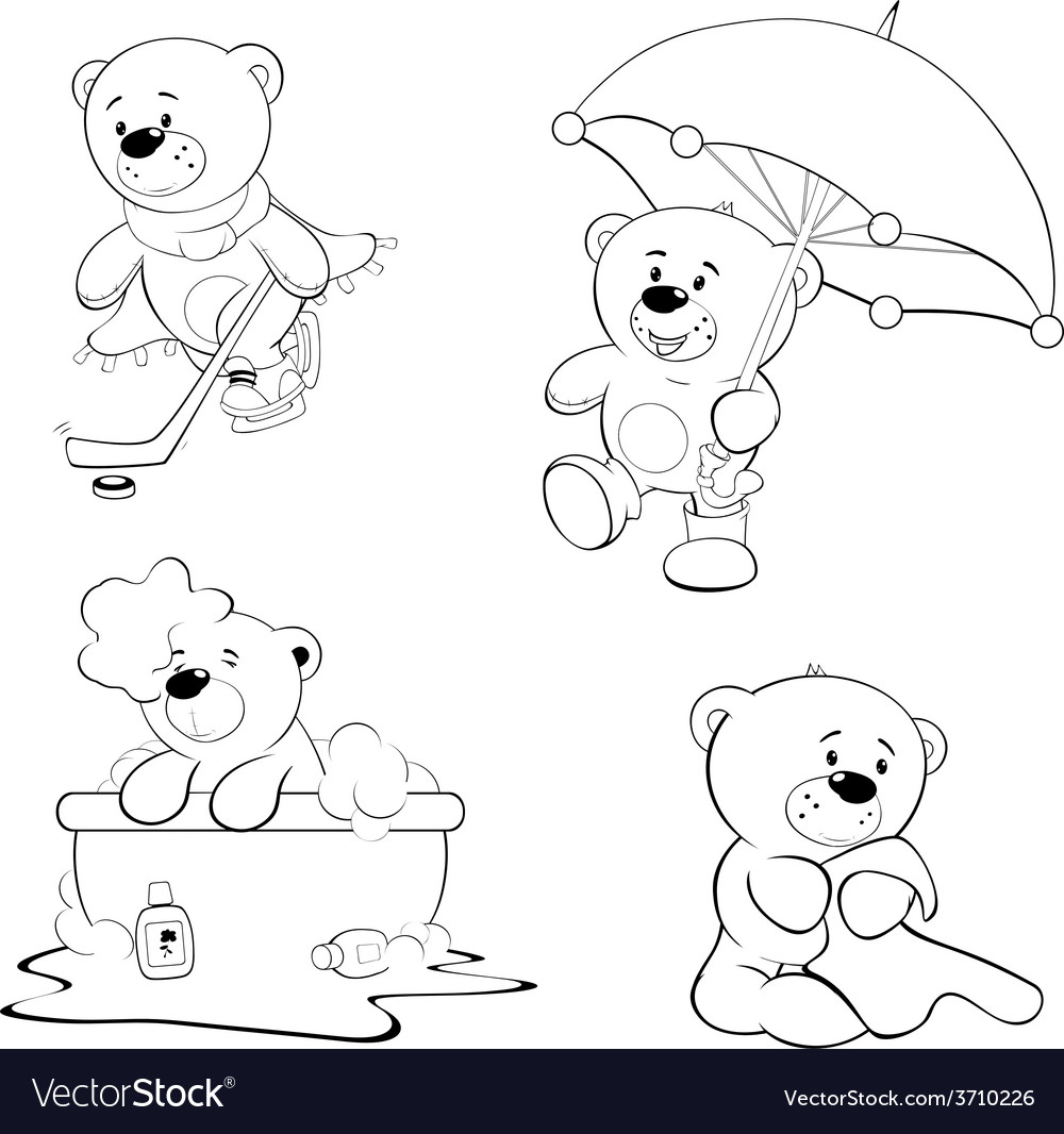 A set of bears Coloring book
