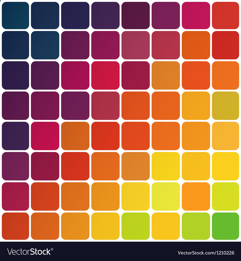 Abstract colorful rounded squares