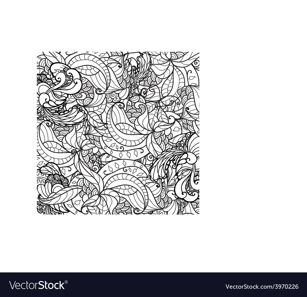 Black and white ornamental floral