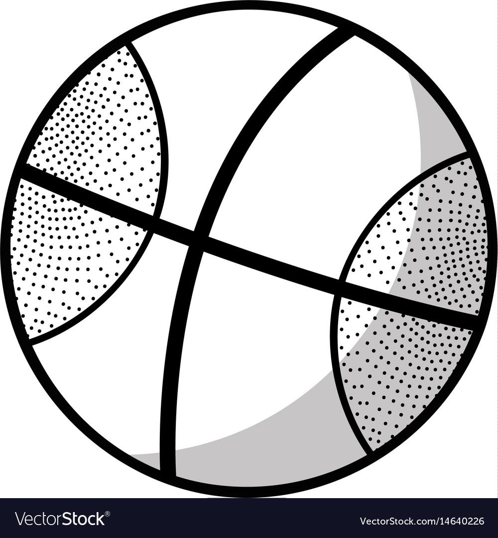 Figure basketball ball to training play game sport