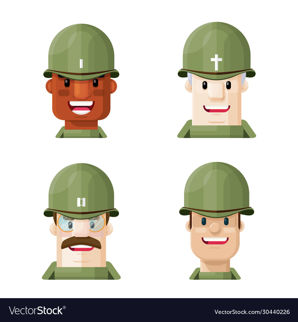 Flat world war two soldiers graphic icon se