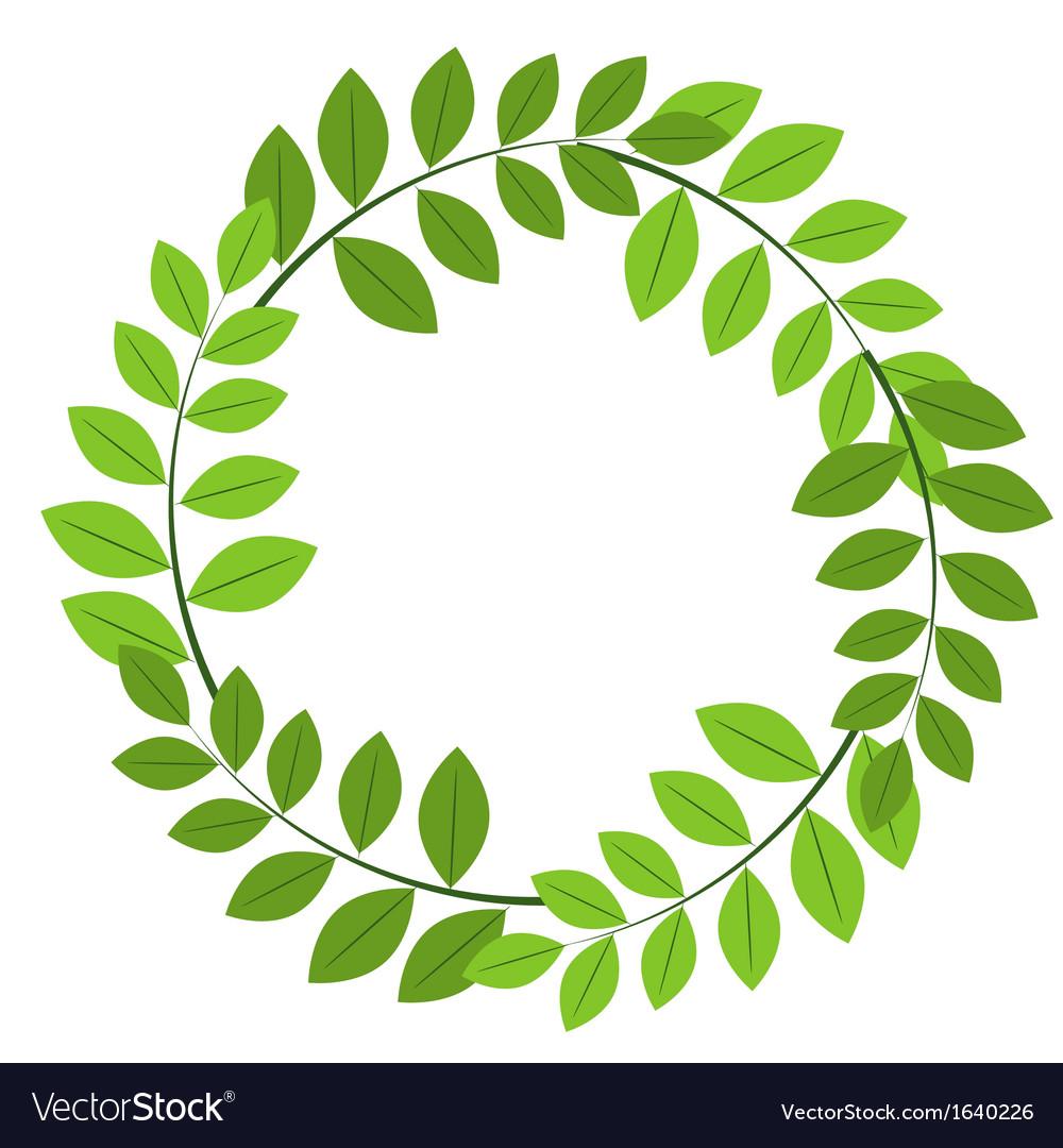 Foliage frame vector image