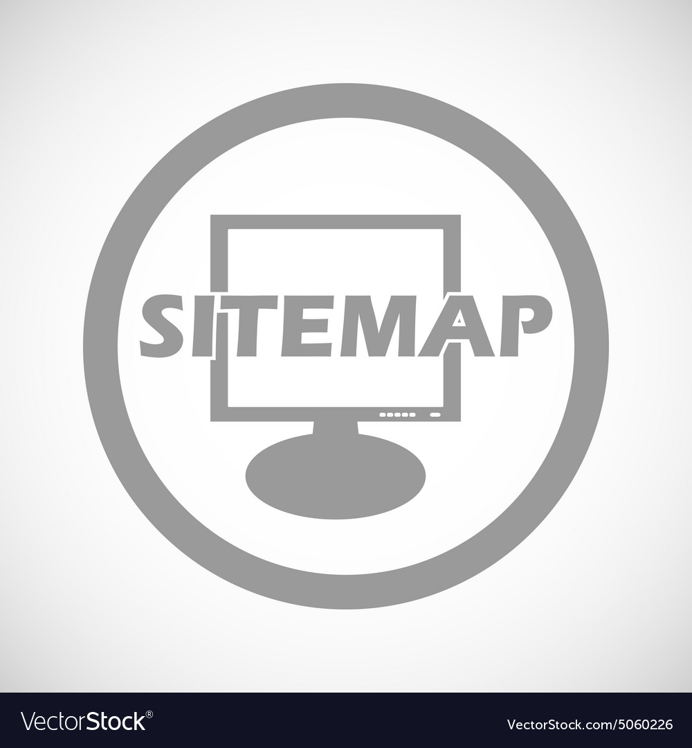 Grey sitemap sign icon