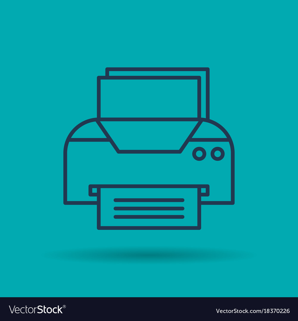 Isolated icon of office printer