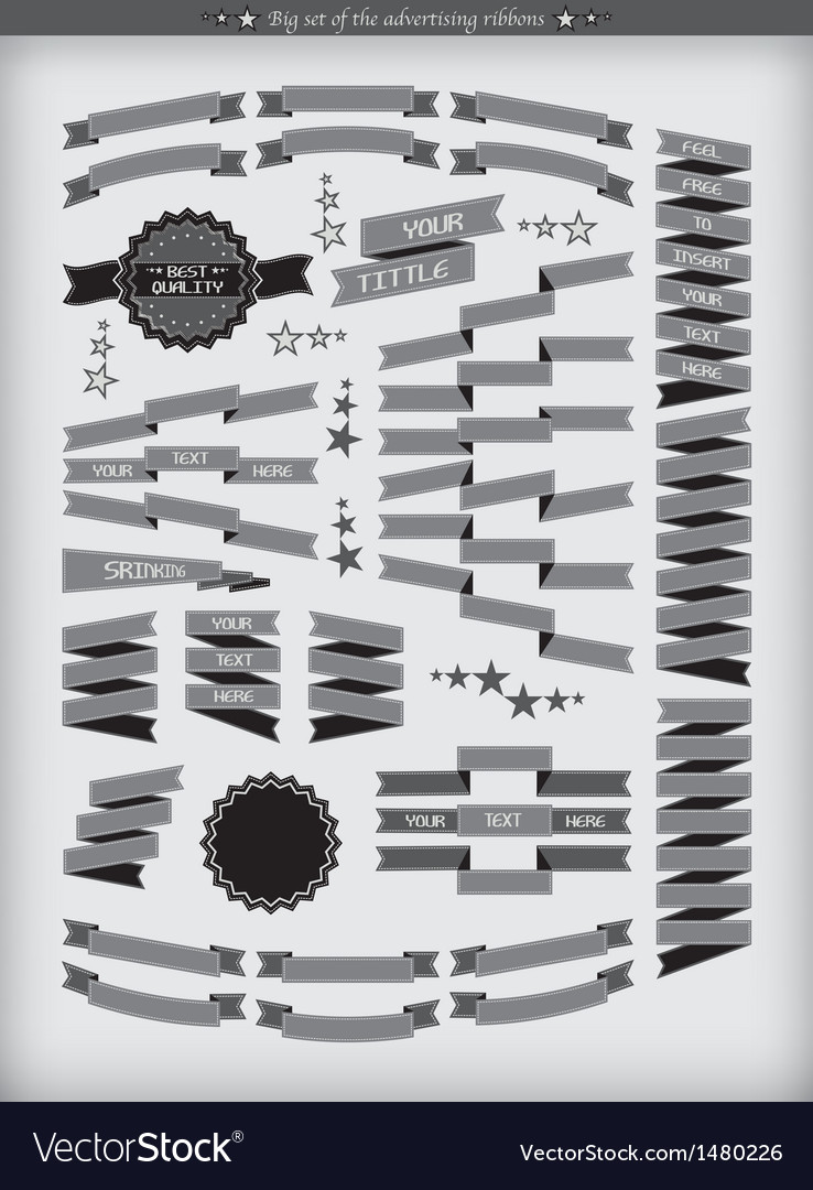 Ribbons badges vector image