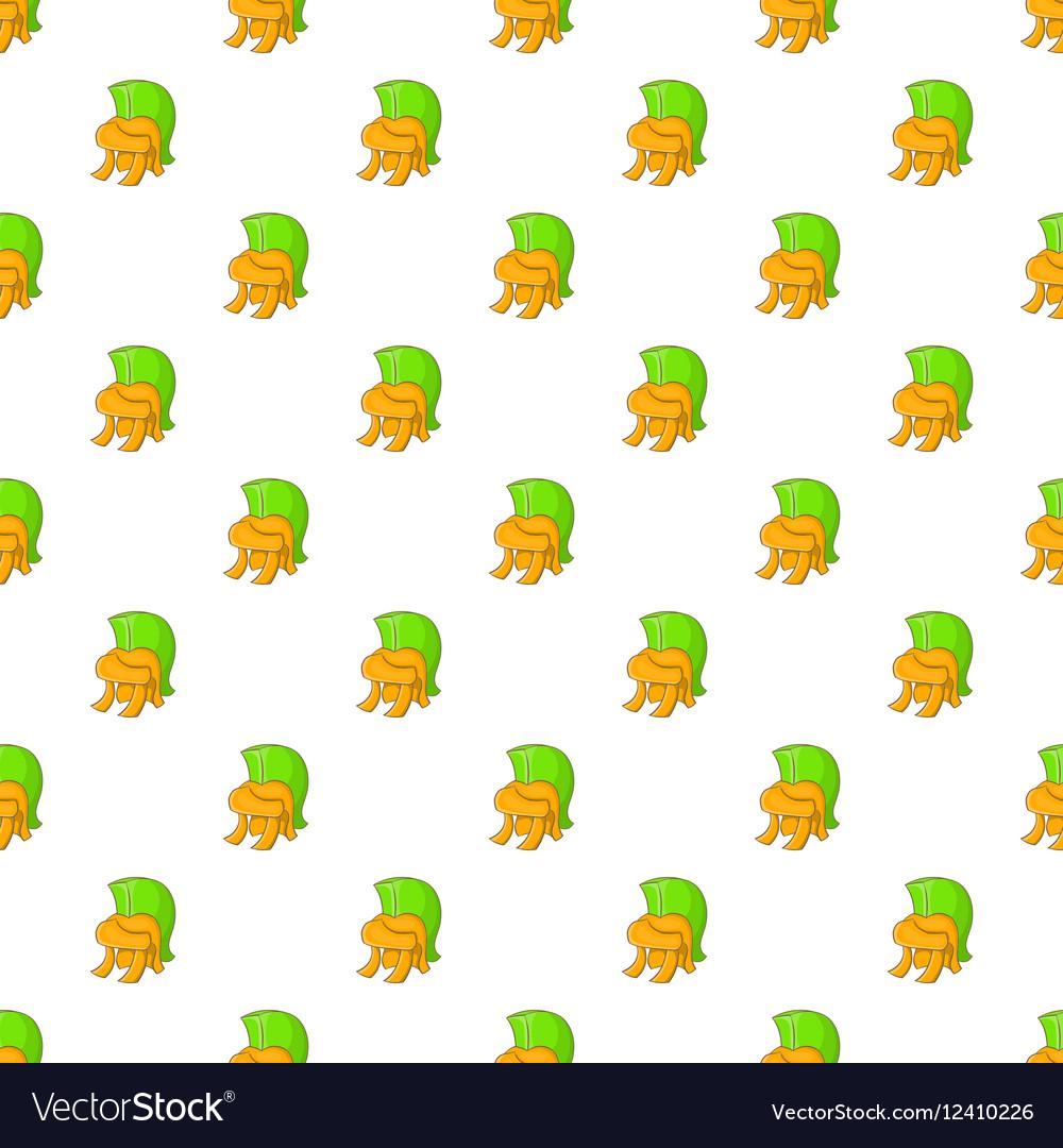 Roman soldiers helmet pattern cartoon style vector image