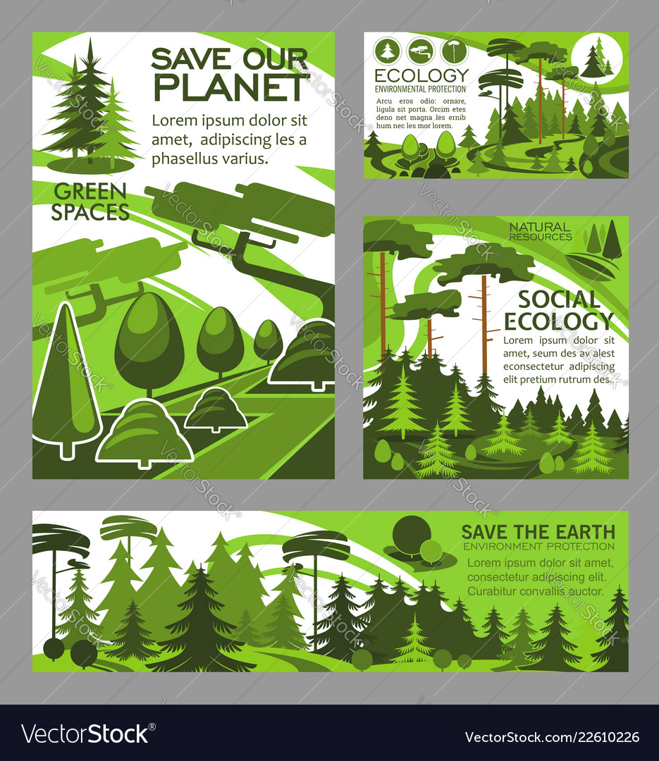 Save planet ecology green project posters