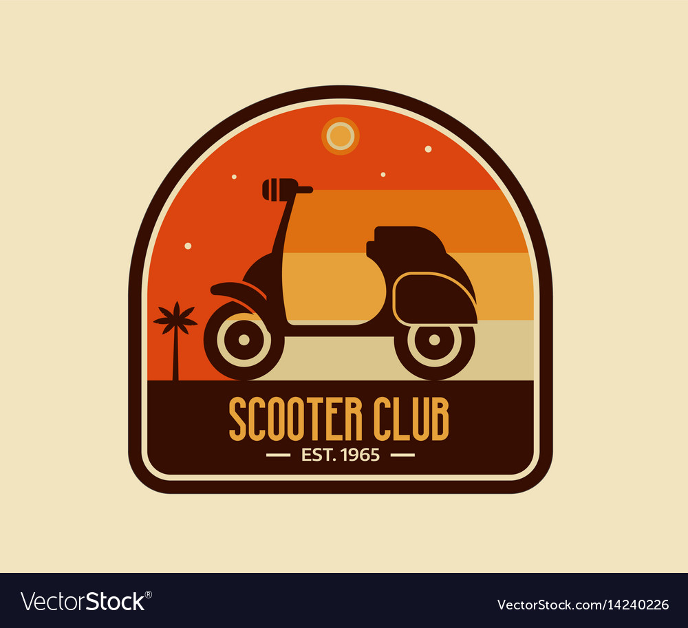 Scooter club badge or emblem