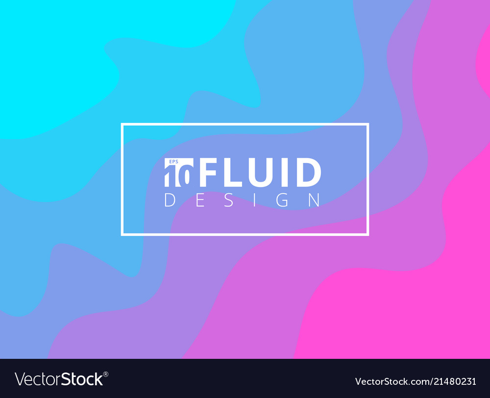 Abstract blue and pink fluid design background