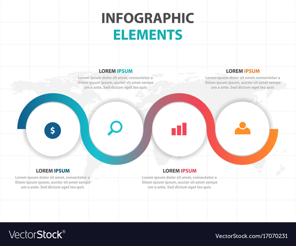 Colorful circle business infographics elements
