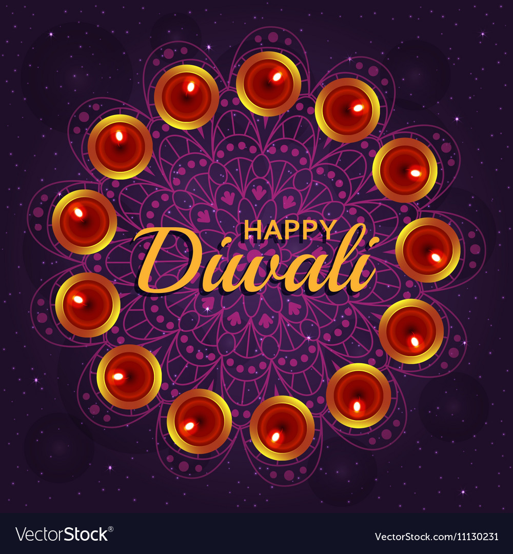 Greeting Card For Diwali Festival Royalty Free Vector Image