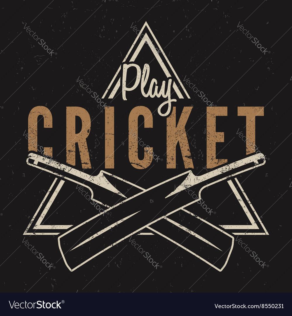 Retro cricket emblem design Cricket logo icon