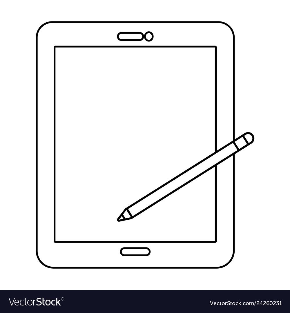 Technology tablet cartoon