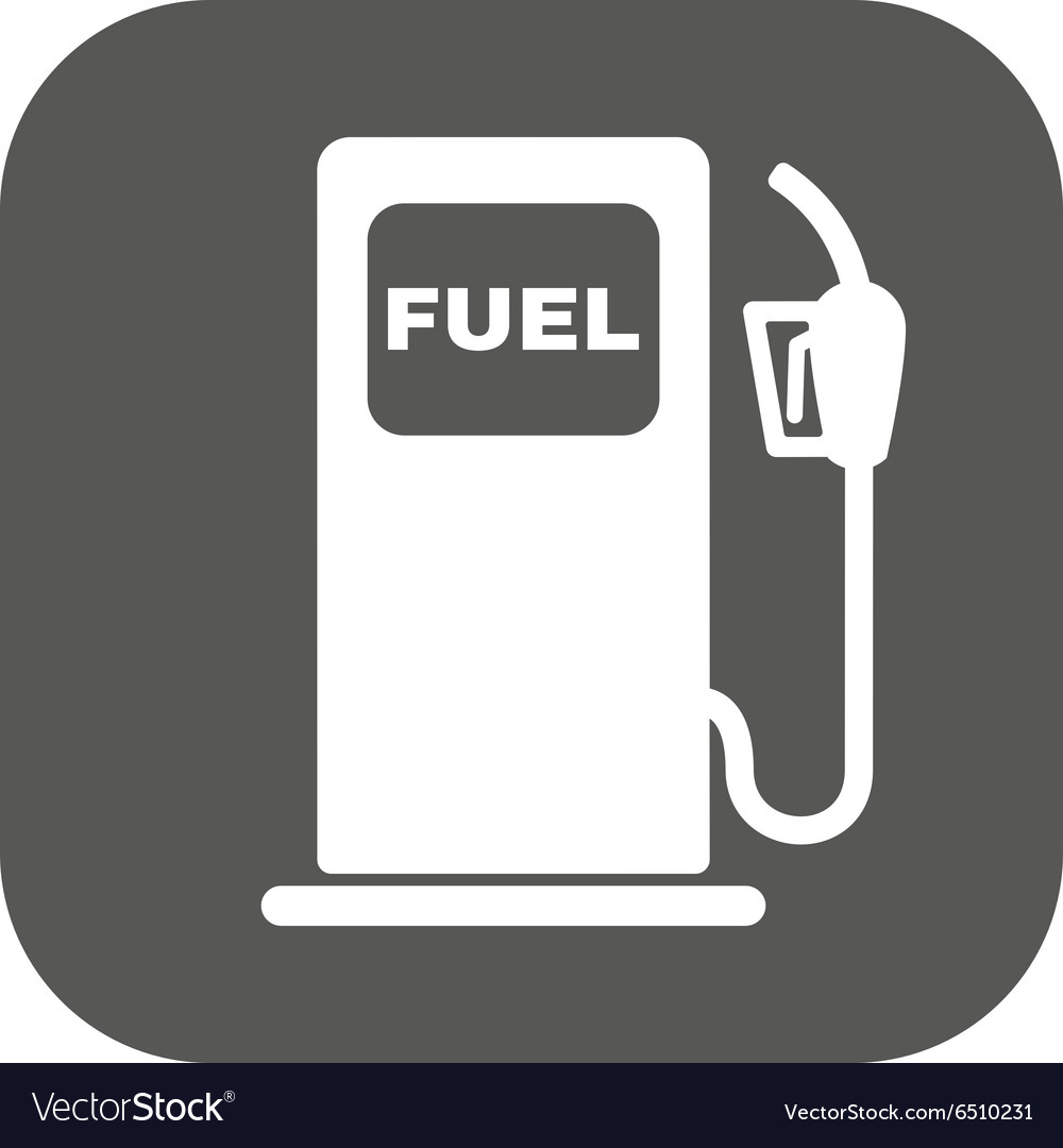 The gas station icon Gasoline and diesel fuel