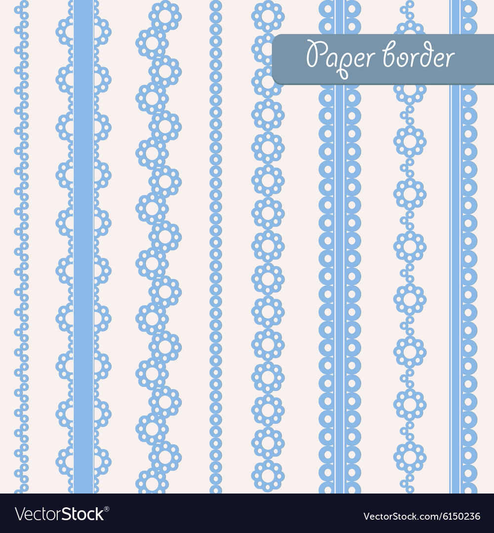 Baby Shower Set Of Border For Boy Royalty Free Vector Image
