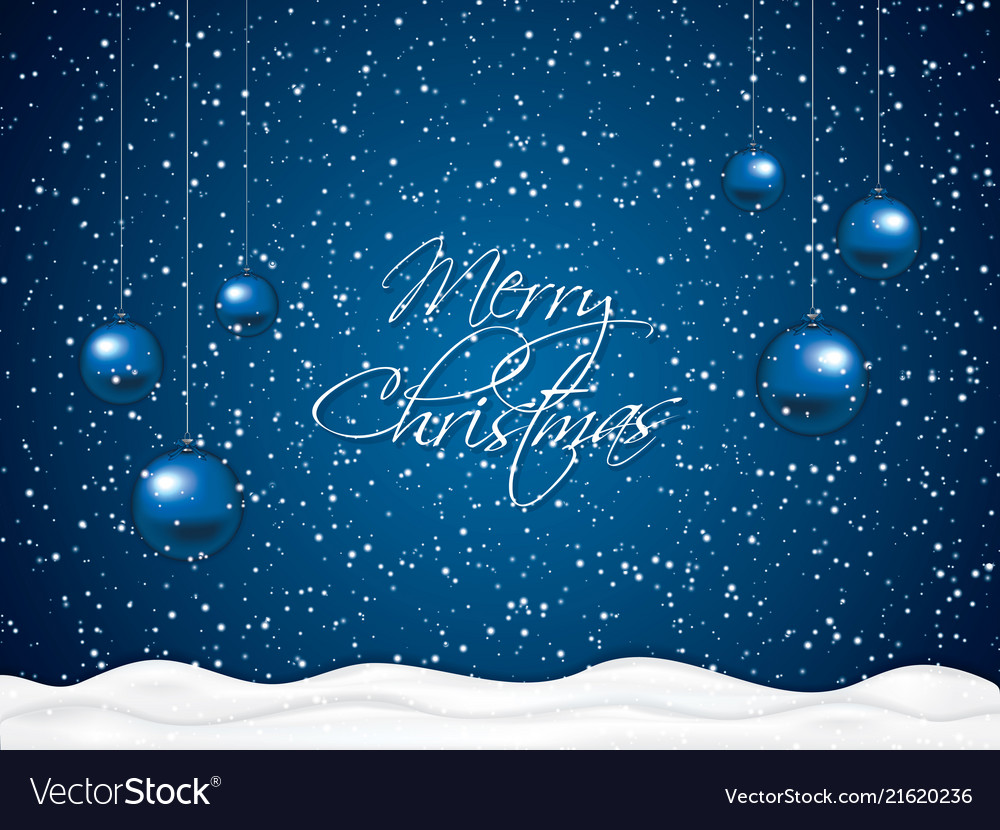 blue christmas background royalty free vector image vectorstock