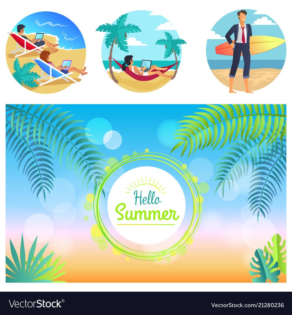 Hello summer 2017 poster