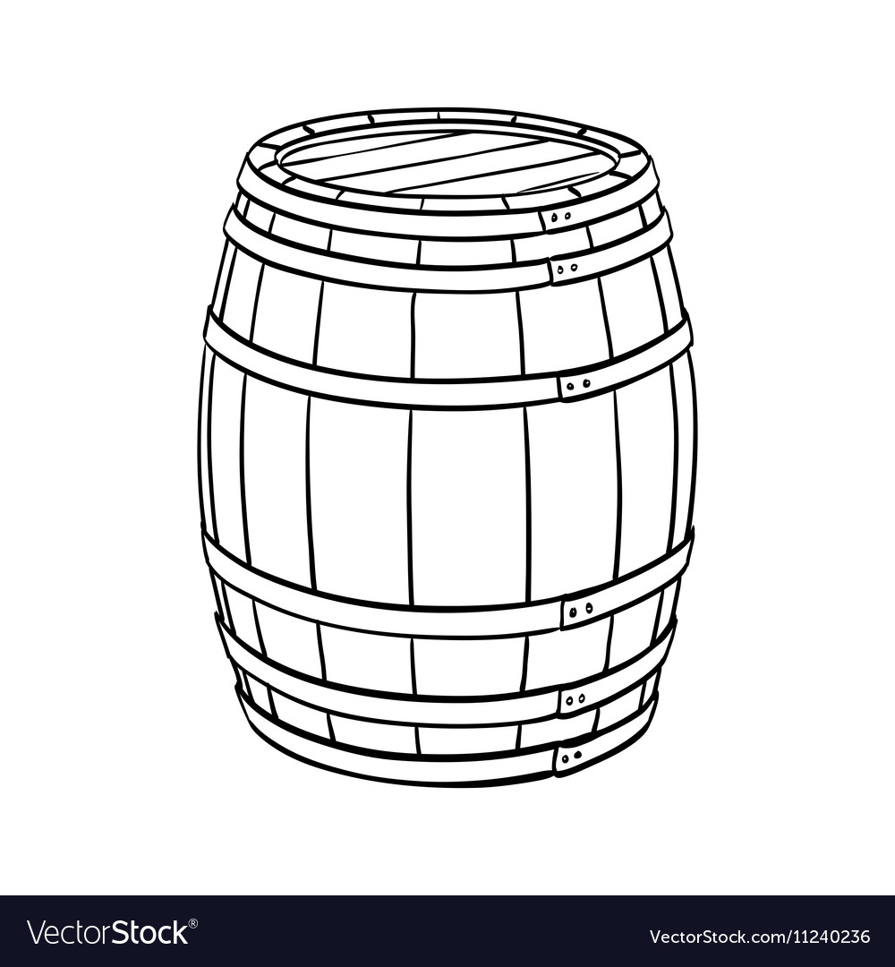 Line sketch of barrel