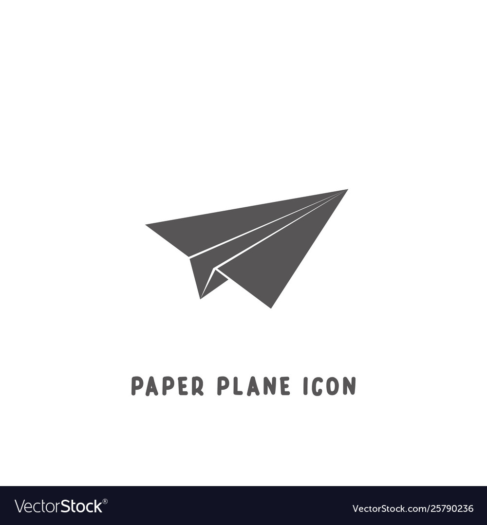 Paper plane icon simple flat style