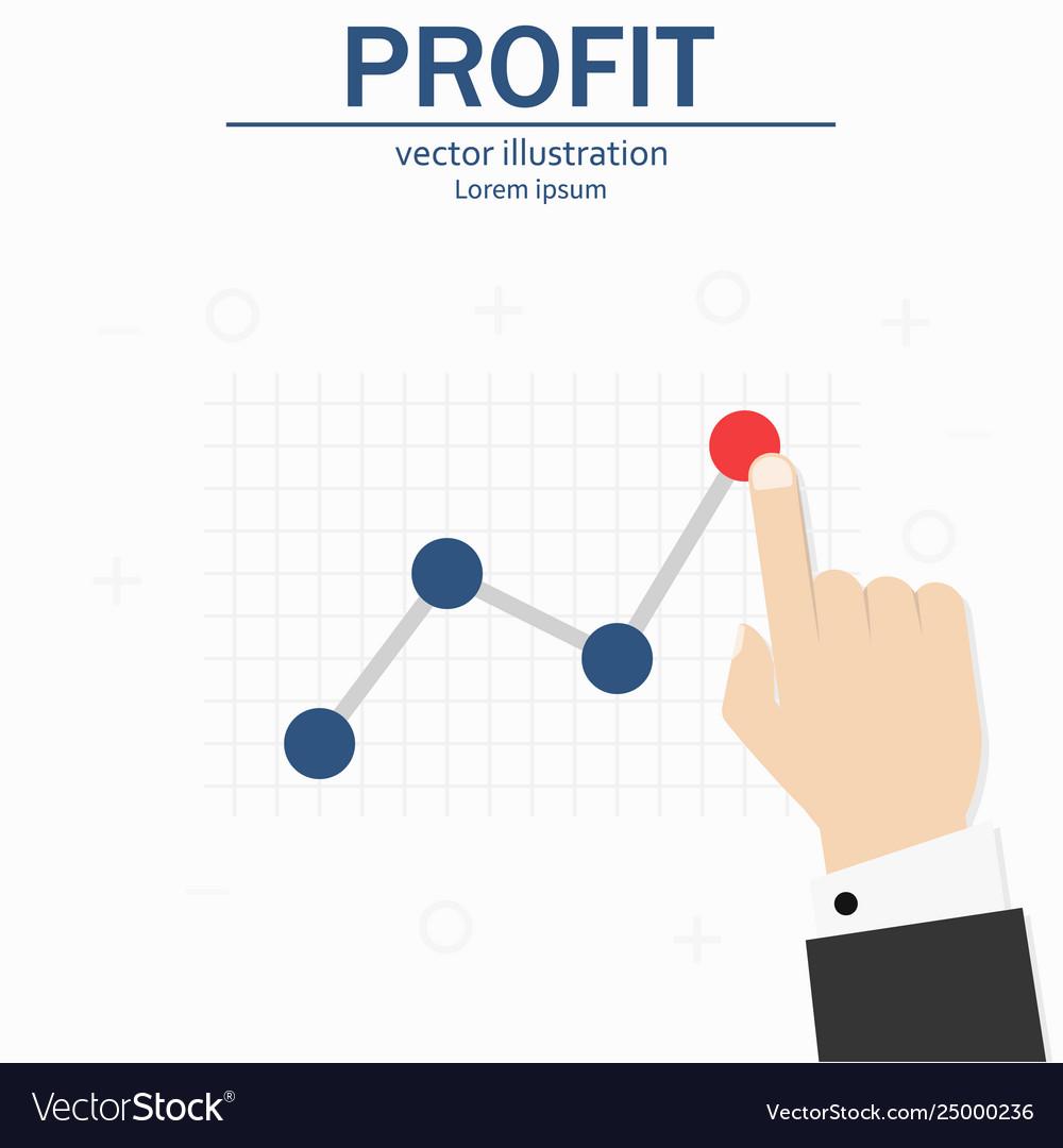 Profit concept growing business graph template