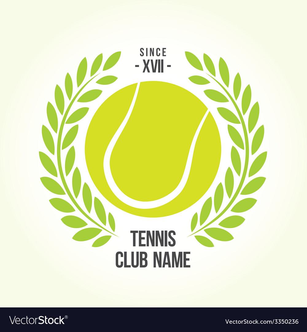 Tennis ball logo