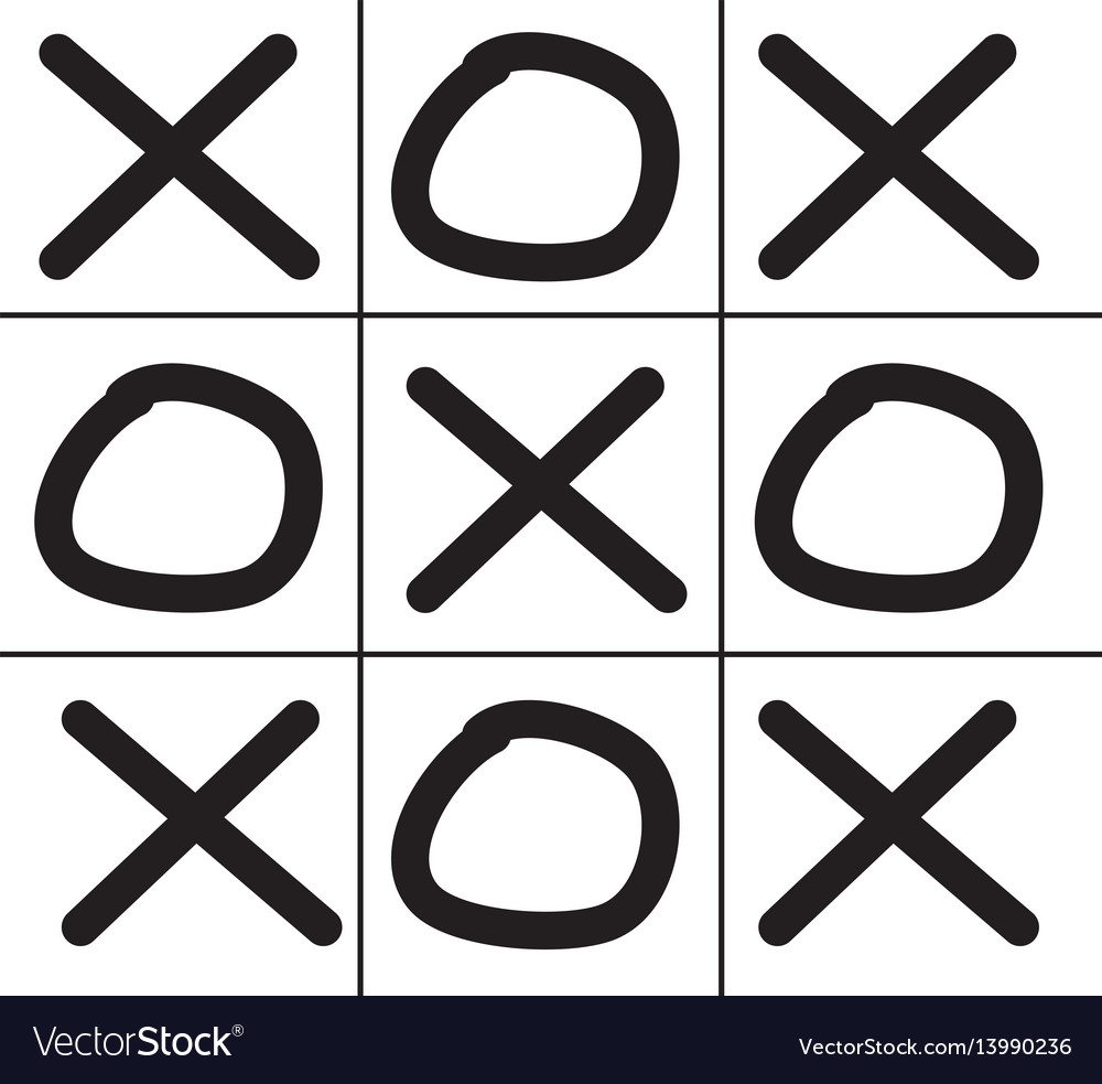 Tic Tac Toe Game Isolated On White Background Vector Image