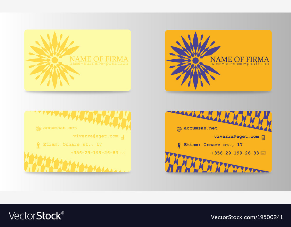 Business card background design with logo vector image reheart Images