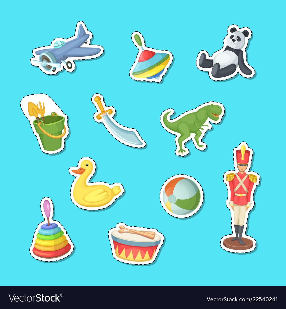 Cartoon children toys stickers set