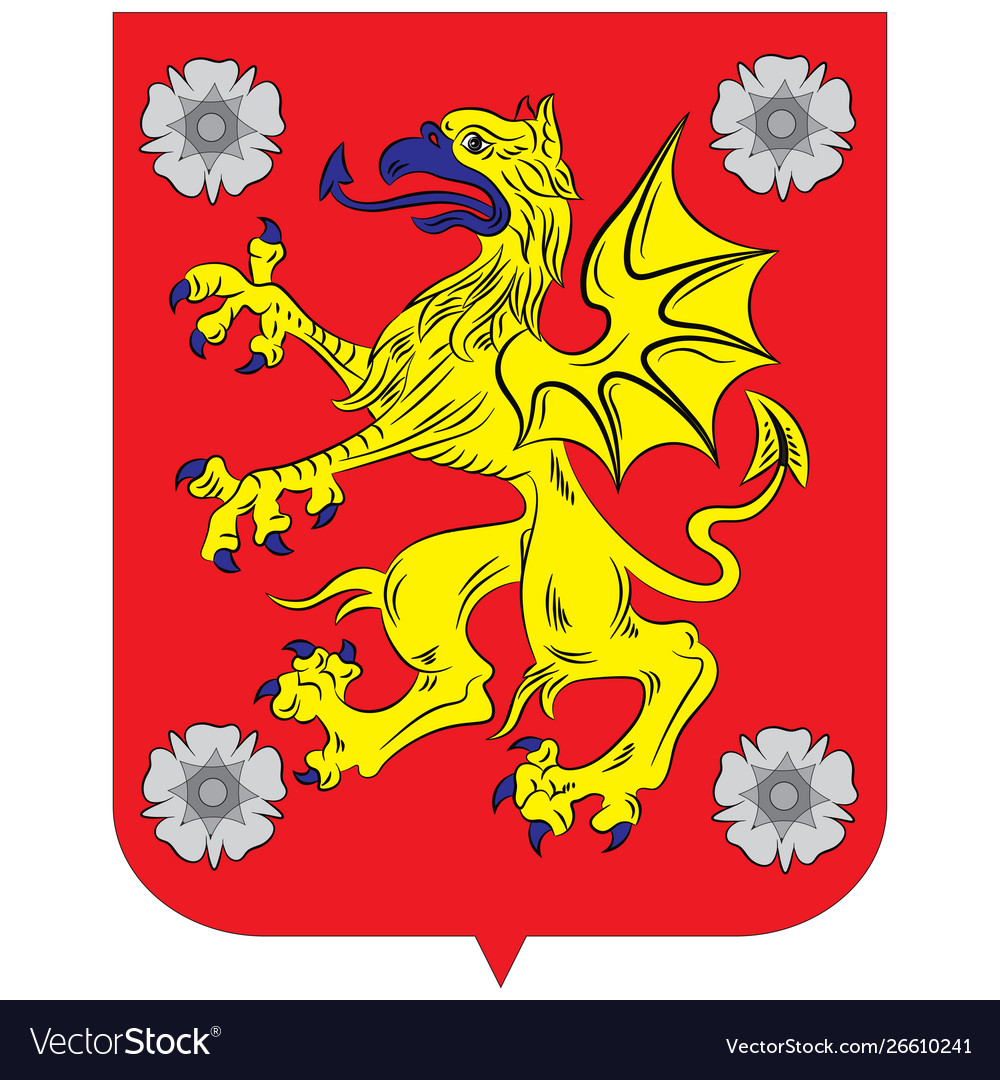 Coat Arms Ostergotland County Sweden Royalty Free Vector