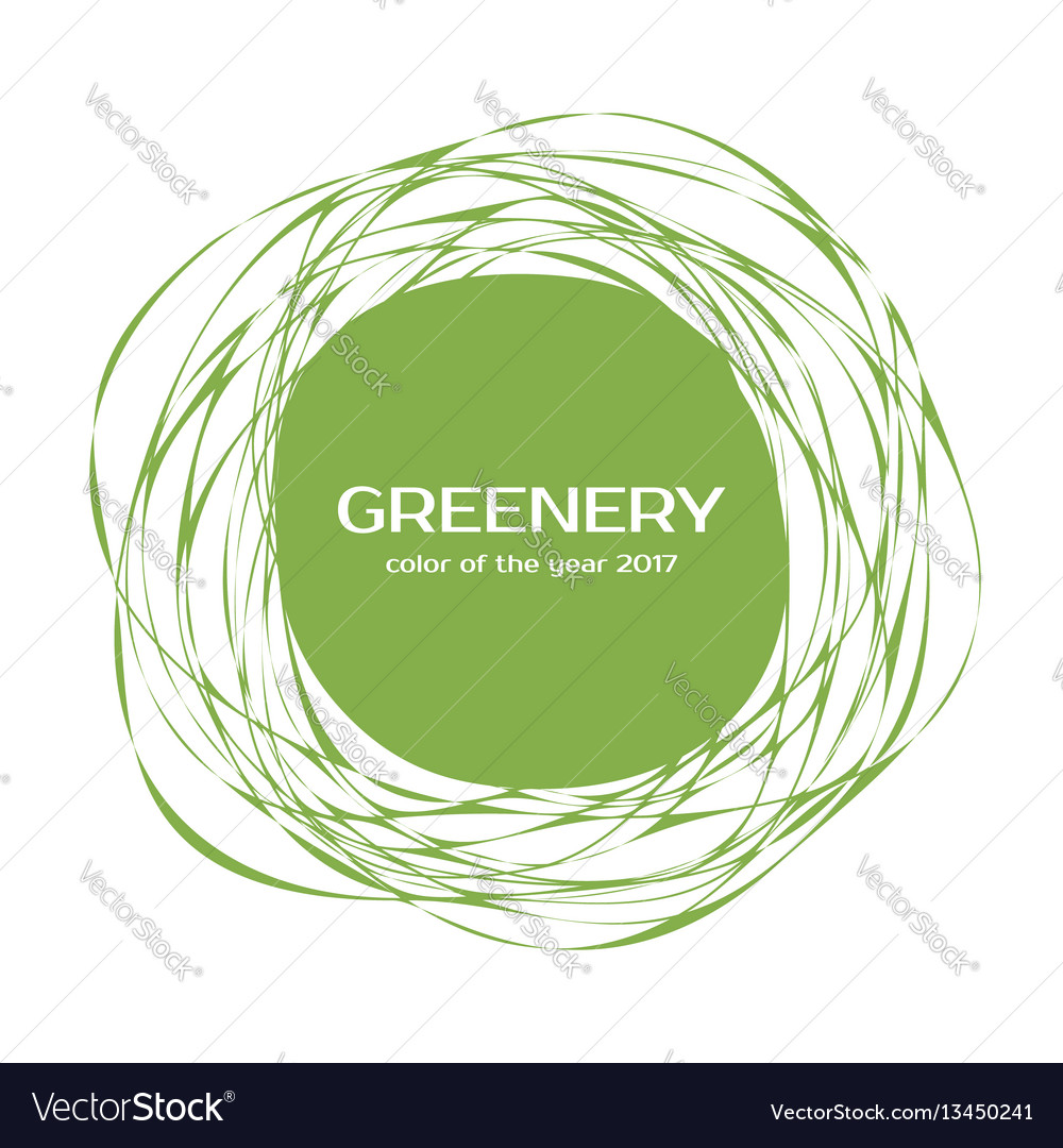 Greenery - color of the year 2017 frame
