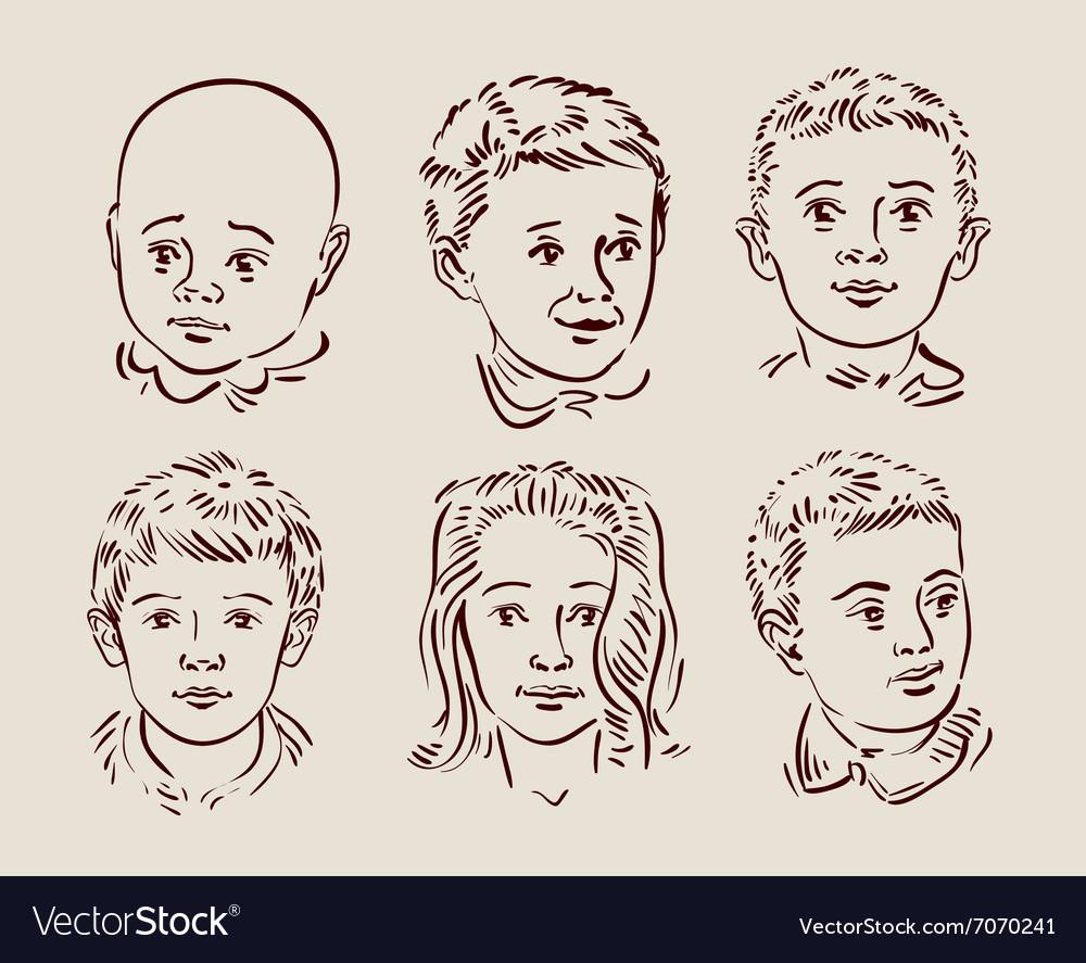 Hand-drawn children