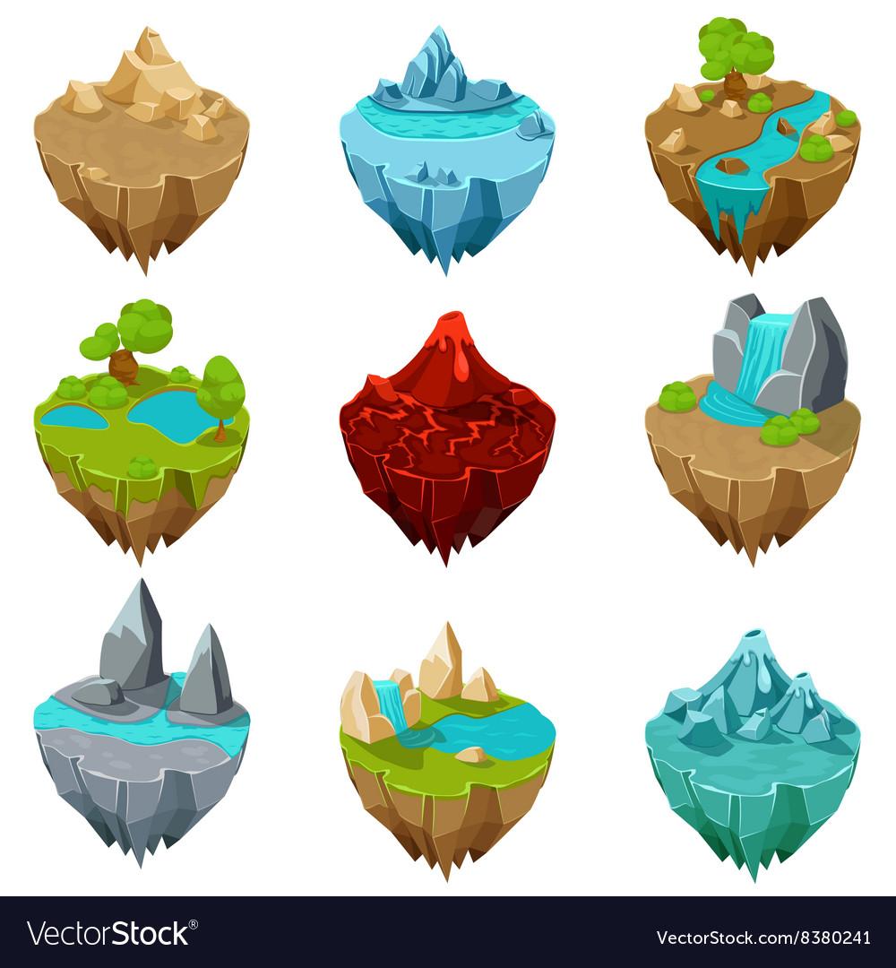 Isometric game islands