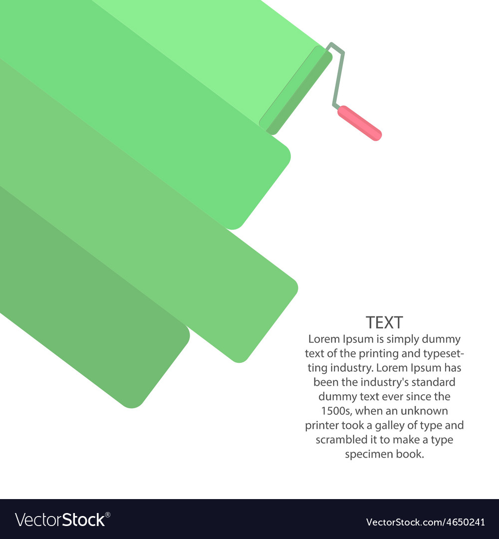 Paint roller ad banner template