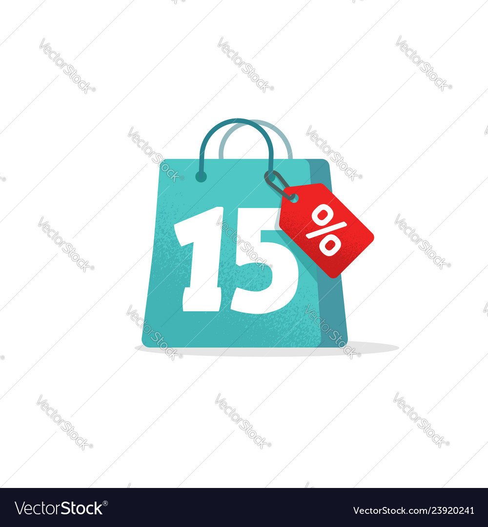 Sale tag badge template 15 off sale label