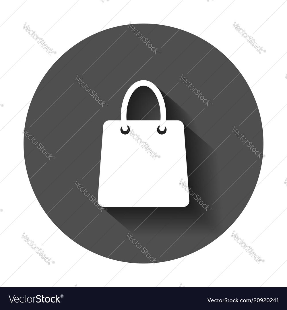 Shopping bag icon shop sale bag flat gift