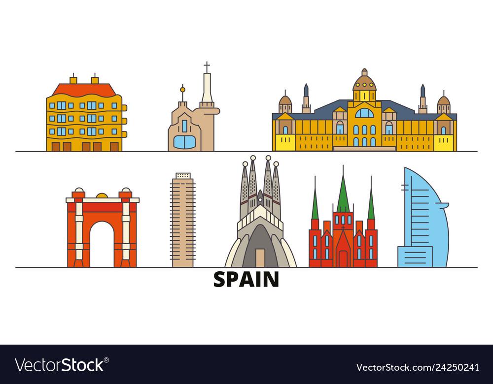 Spain barcelona flat landmarks