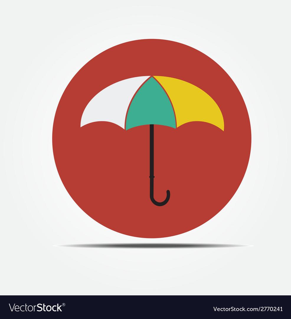 Umbrella Flat style icon