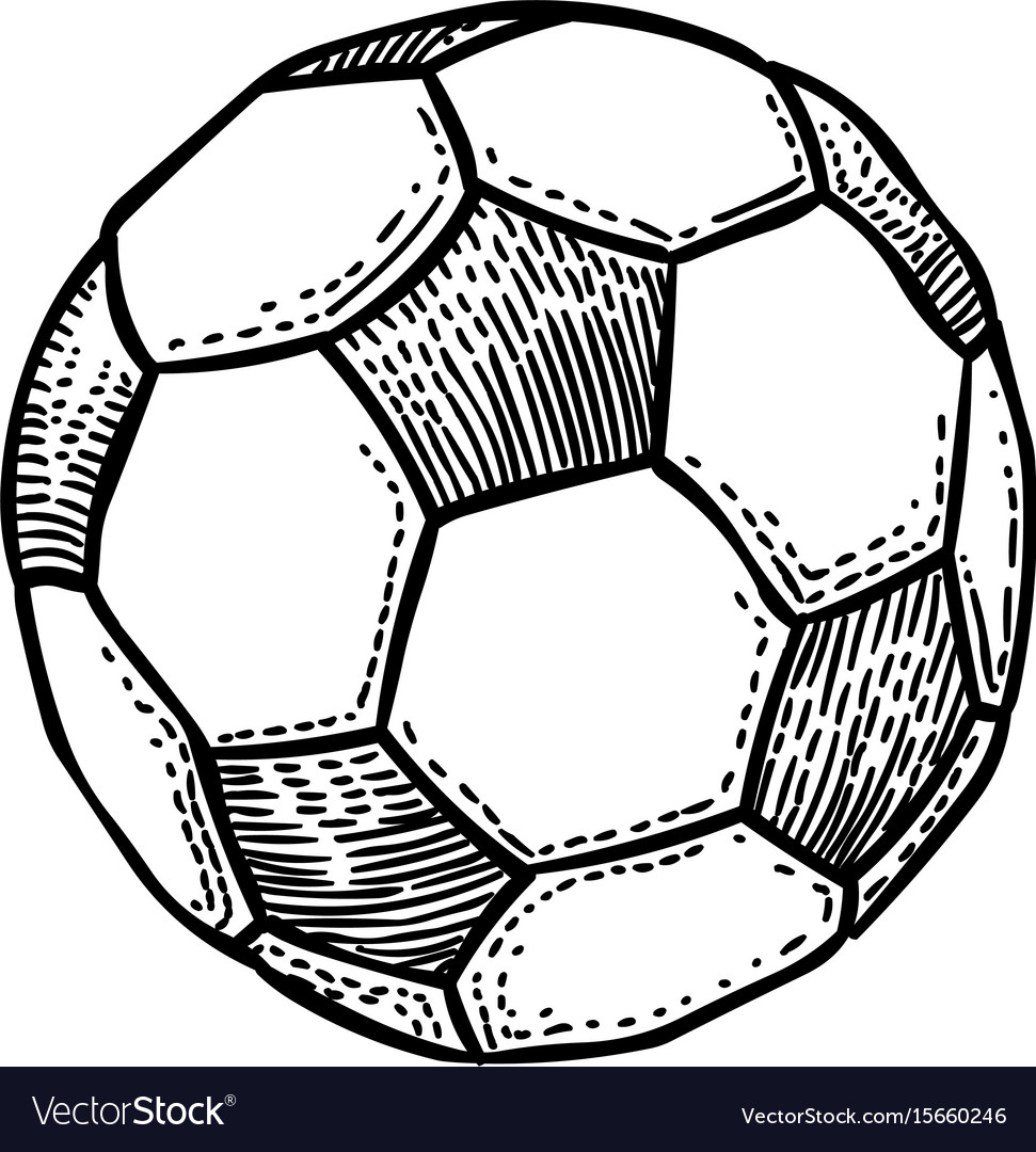 Cartoon image of football ball icon soccer ball