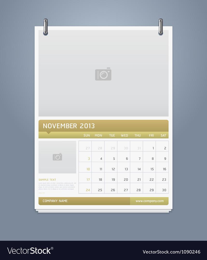 Clean calendar 2013 template design