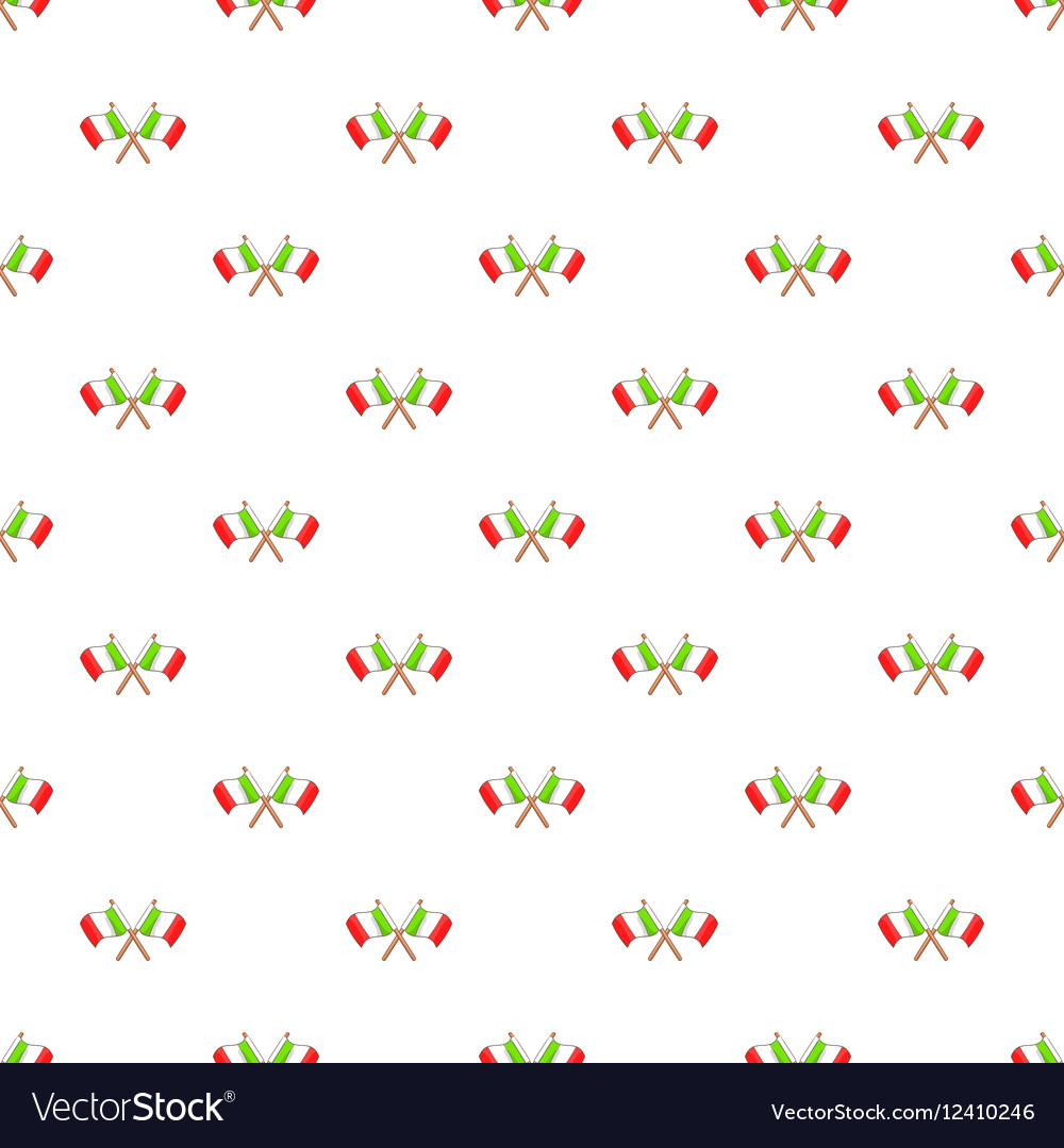 Crossed Italy flags pattern cartoon style vector image