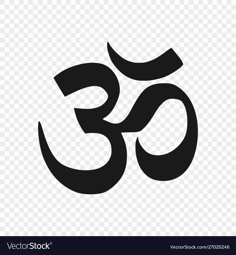 Symbol hinduism isolated