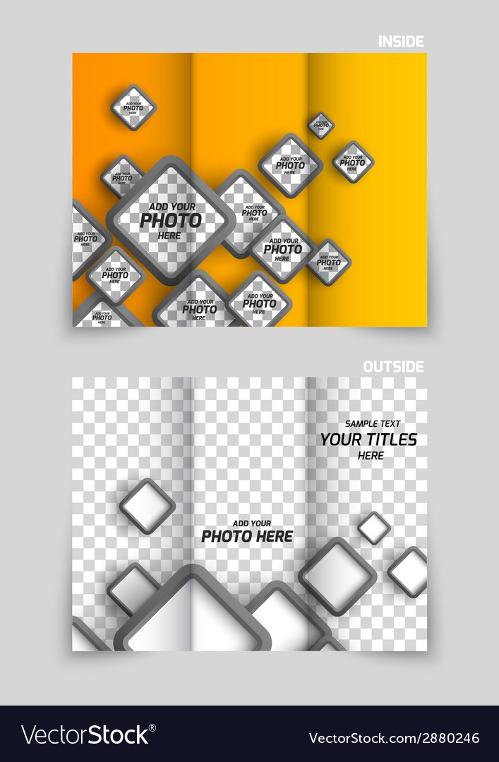 tri fold brochure template design royalty free vector image