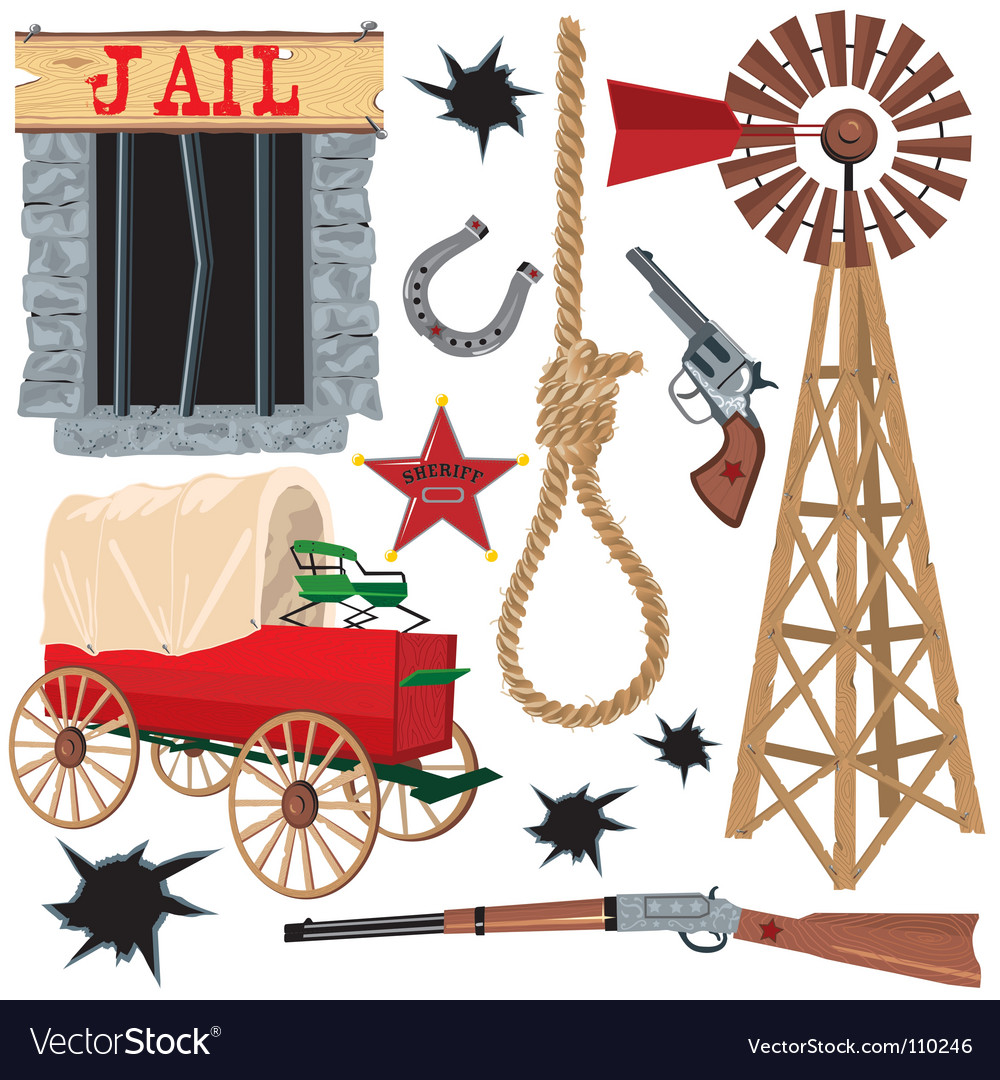 Wild west clip art icons