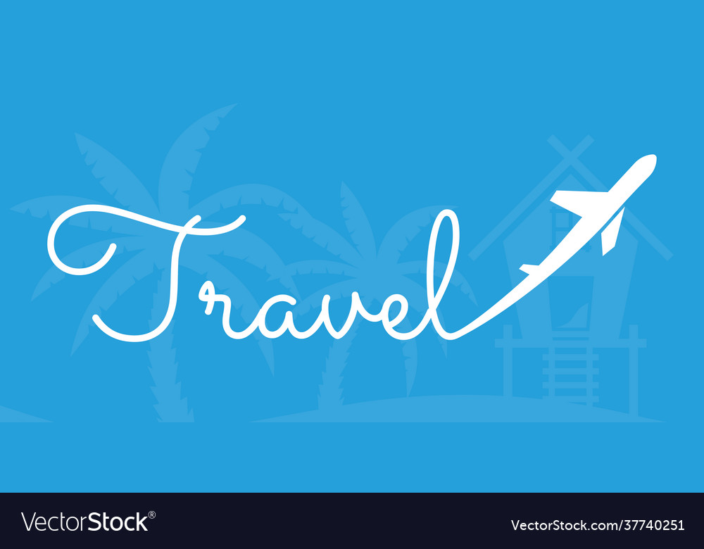 Airplane travel concept