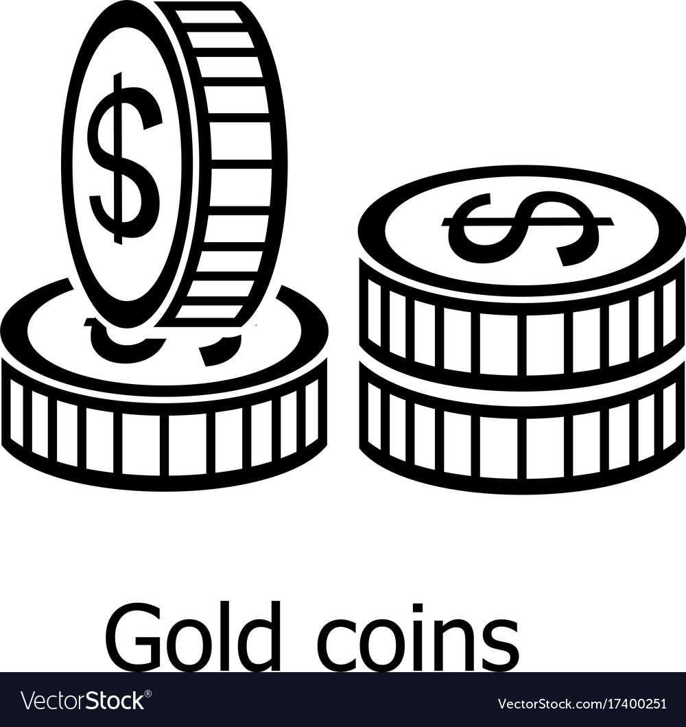 Coin icon simple black style