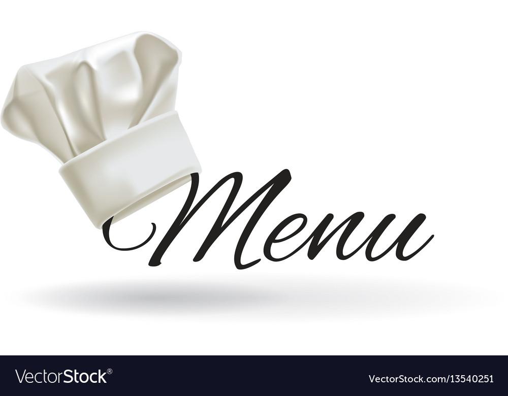 Cook hat menu chef hat